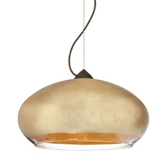 Besa Lighting 1KX-4345GF-LED Brio 1 Light LED Pendant with Gold Foil Shade (2 options available)
