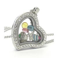 Heart Charm Locket Necklace for Weddings