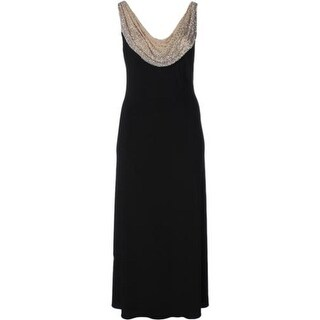 Betsy & Adam Womens Petites Evening Dress Embellished Full-Length - 4P