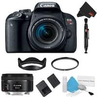 Canon EOS Rebel T7i DSLR Camera with 18-55mm Lens Kit + 50mm Lens (Intl Model)