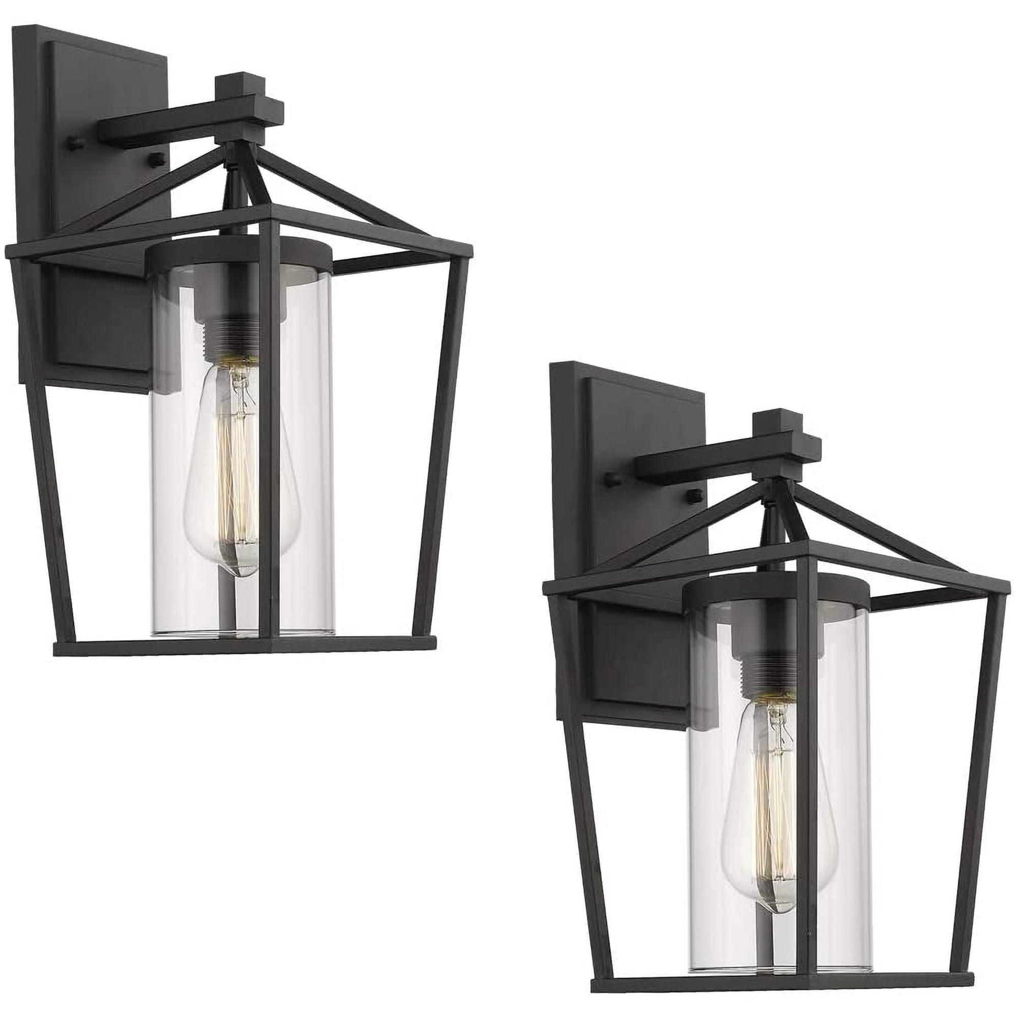 Emliviar Indoor Outdoor Sconce 2 Pack With Clear Seeded Glass Indoor Outdoor Wall Light Overstock 31796190