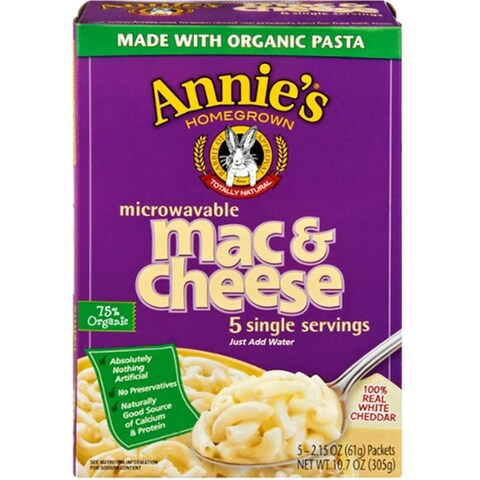 Annie's Homegrown - White Cheddar Microwavable Mac & Cheese ( 6 - 10.7 oz boxes)