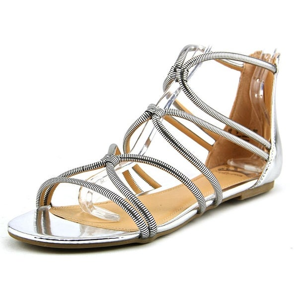 Fergalicious Vivian Women  Open Toe Synthetic Silver Gladiator Sandal