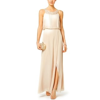 Beige Evening Gowns