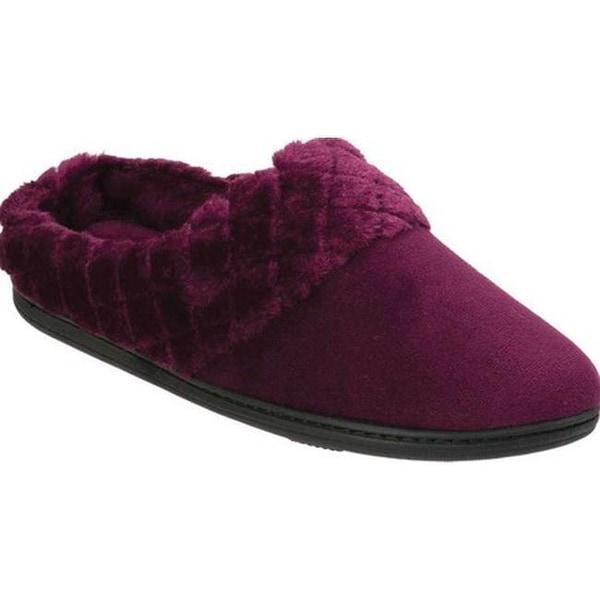 f429fb4d7 Shop Dearfoams Women s Quilted Clog Slipper Aubergine - Free ...