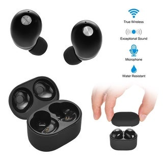 AGPtek Mini True Wireless Bluetooth Twins Stereo In-Ear Headset Earphone Earbuds Black