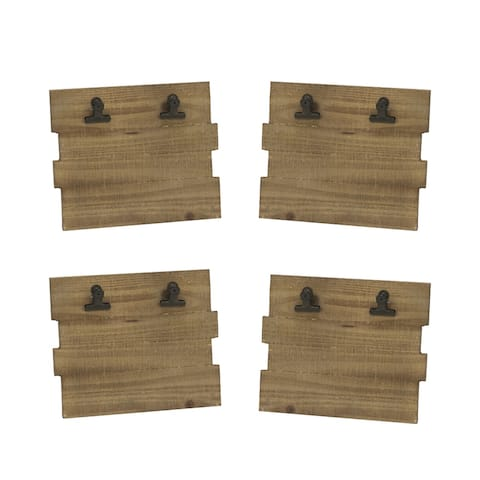Wooden Photo/Note Board Frame, Set of 4