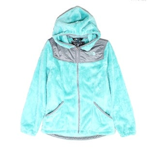 The North Face Girls Outwear Deep Green Size Large L Hooded Fleece