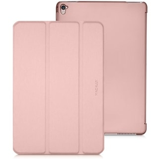 "Macally Slim Foldable Protective Case Cover & Dual Positional Stand For Apple Ipad Pro 2 (9.7"") & Ipad Air 2 (Rose Gold)"