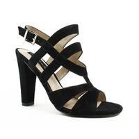 Steve Madden Womens Cassndra Black Open Toe Heels Size 7.5