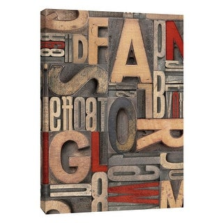 "PTM Images 9-109137  PTM Canvas Collection 10"" x 8"" - ""Red Letterpress A"" Giclee Alphabet Art Print on Canvas"