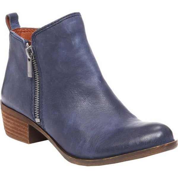 839618efe Shop Lucky Brand Women's Basel Bootie Indigo Leather - Free Shipping ...