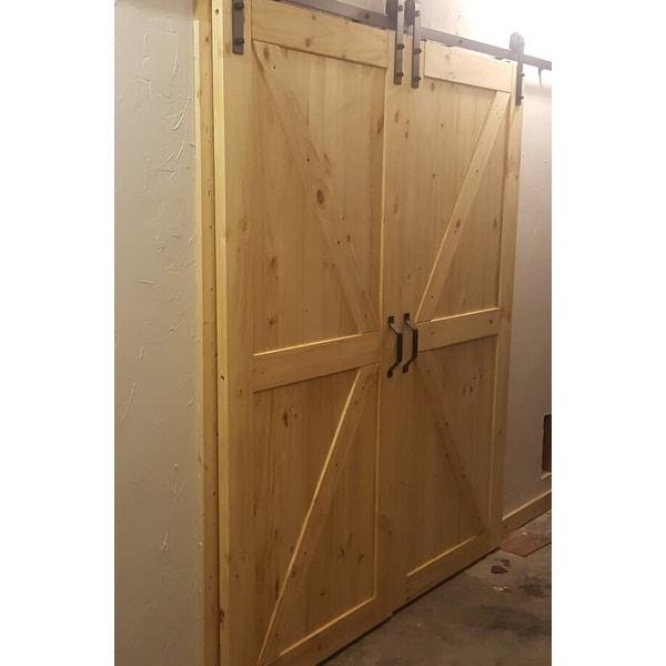 Shop BELLEZE 36in x 84in Sliding Barn Door Unfinished
