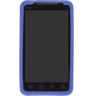 Wireless Solutions Textured Silicone Gel Case for HTC EVO 4G 9292 - Dark Blue