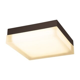 "WAC Lighting FM-4012 Dice Single Light 12"" Wide Integrated LED Outdoor Flush Mount Square Ceiling Fixture"