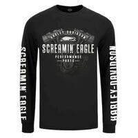 Harley-Davidson Men's Screamin' Eagle Engine Long Sleeve Shirt, Black R003409