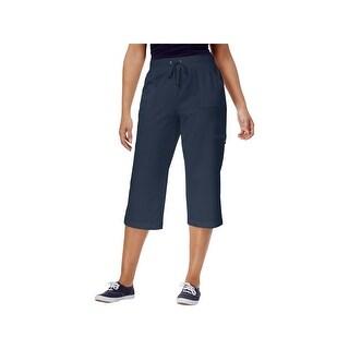 Karen Scott Womens Capri Pants Fitness Drawstring