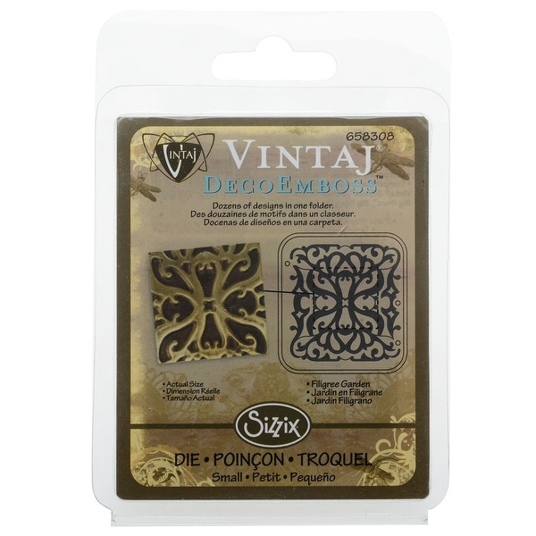 Vintaj DecoEmboss Die For Sizzix Bigkick Machine - Filigree Garden