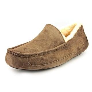 Ugg Australia Ascot Men Moc Toe Suede Brown Slipper