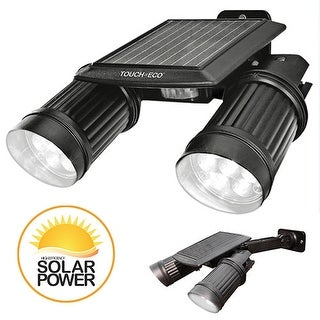 TWINSPOT PRO Solar Motion sensor Dual Head LED Spotlight In Black
