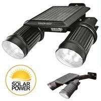 TWINSPOT PRO Solar Motion sensor Dual Head LED Spotlight In Black