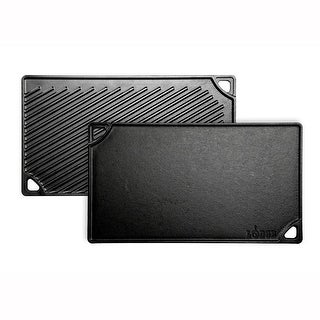"""Lodge LDP3 Double Play Reversible Grill Griddle, 16-3/4"""" x 9-1/2"""""""