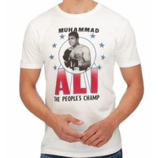 Lucky Brand NEW White Ivory Mens Size Medium M Muhammad Ali T-Shirt