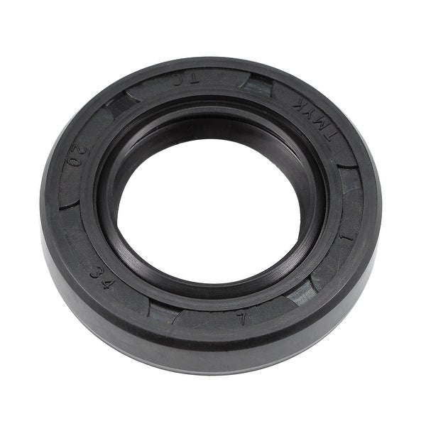 Oil Seal, TC 20mm x 34mm x 7mm, Nitrile Rubber Cover Double Lip - 20mmx34mmx7mm