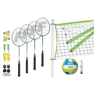 Franklin 50601 Intermediate Series Badminton & Volleyball Set