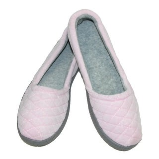 Dearfoams Women's Velour Espadrille Slippers with Microfiber Insole