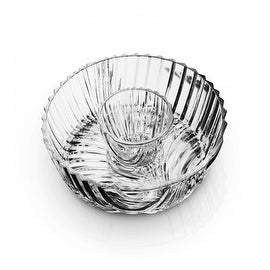 Studio Silversmiths Papyrus Collection Crystal Chip and Dip Bowl