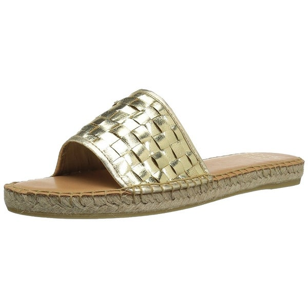 André Assous Womens Sari Leather Round Toe Beach Espadrille Sandals