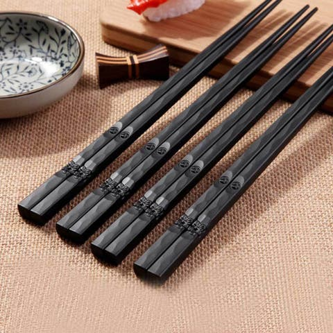 Japanese Style Healthy Alloy Sushi Anti-Slip Chopsticks Tableware Value Gift