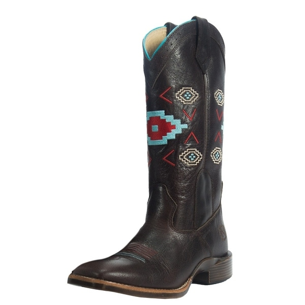 Noble Outfitters Western Boots Women All Around Aztec Embroidery