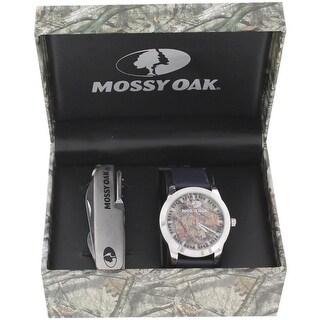 Mossy Oak Mens Wristwatch Water Resistant Leather