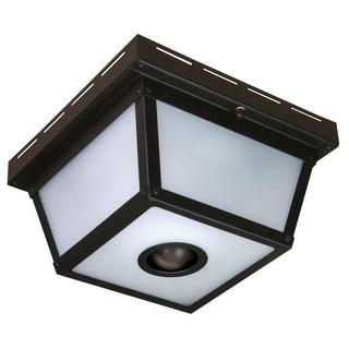 "Heath Zenith HZ-4305 4 Light 9-11/32"" Wide Outdoor Flush Mount Ceiling Fixture - Motion Sensor Activated"