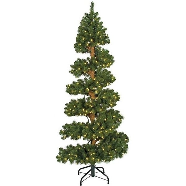 Autograph Foliages C-60248 7 ft. Spiral Spruce Tree Green