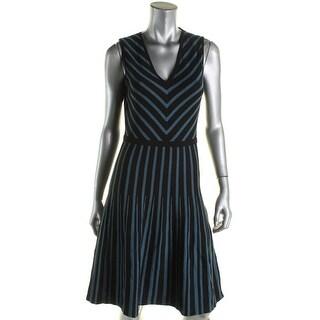 Anne Klein Womens Casual Dress Knit Striped