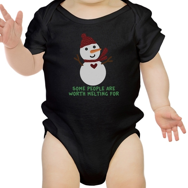 Worth Melting For Snowman Cute Graphic Baby Bodysuit Baby Boy Gift