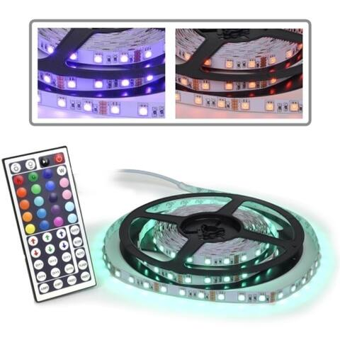 Logisys LDXRM196C 12V Flexible RGB 150-LED 16.5' Multi-Color Strip Light Kit w/Remote