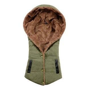 Women Vest Cotton Hooded Coral Cashmere Warm