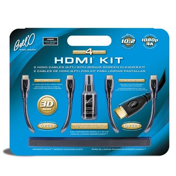 BELLO INTERNATIONAL LLC 2 HDMI Cables with Bonus Screen Cleaner Kit