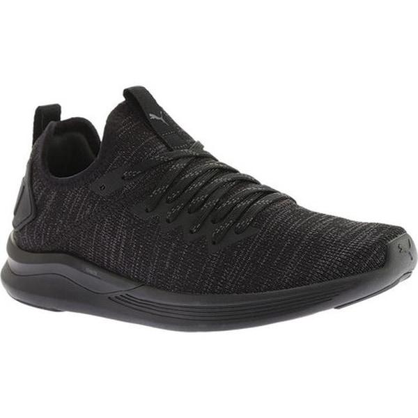 Shop PUMA Women s IGNITE Flash evoKNIT Sneaker PUMA Black - On Sale ... 47e748a081