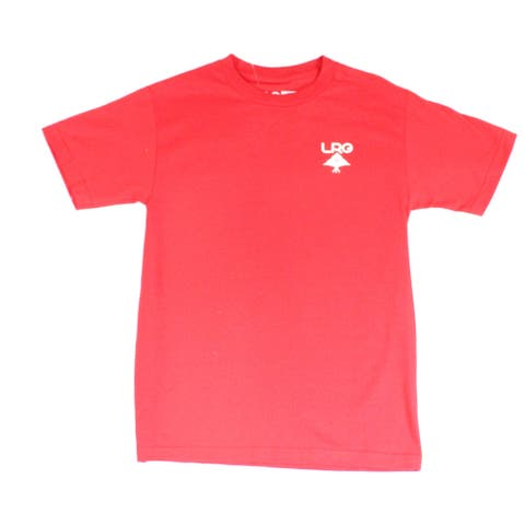 LRG Mens Shirt Red Size Small S Graphic Tee Short Sleeve T-Shirt