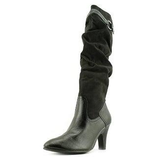 Aerosoles Paperweight Women  Round Toe Canvas Black Knee High Boot