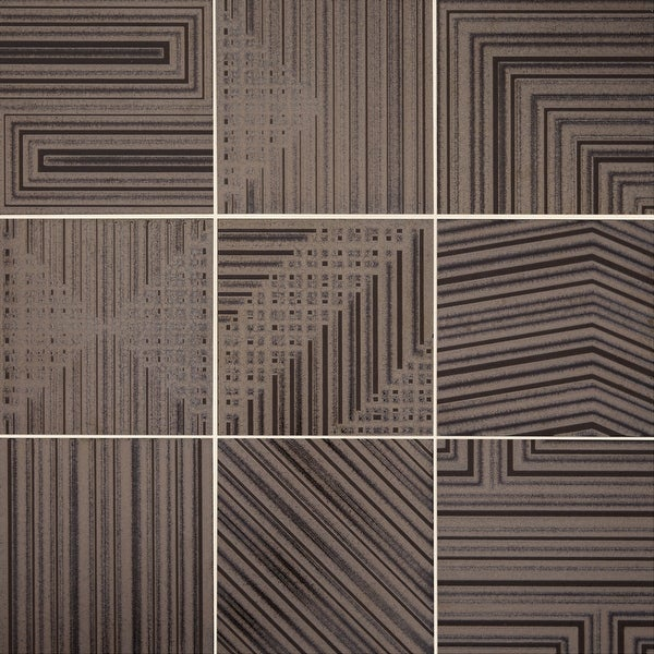 "Daltile GF88DECOP Geometric Fusion - 7-3/4"" Square Wall Tile - Unpolished Visual"
