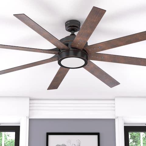 Honeywell Xerxes Oil-rubbed Bronze 62-inch LED 8-blade Ceiling Fan