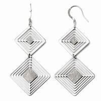 Sterling Silver Shepherd Hook Dangle Earrings