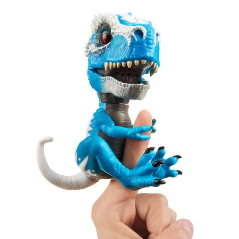 Fingerlings Untamed T-Rex Interactive Collectible Dinosaur - Blue Ironjaw - Multi
