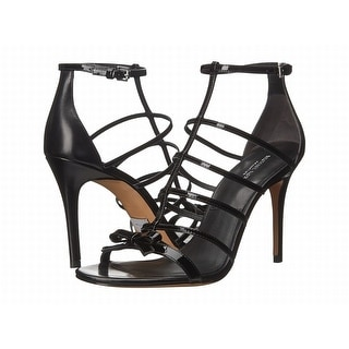 8d29a96550 Shop Michael Kors NEW Black Shoes Size 10M Strappy Leather Heels - Free  Shipping Today - Overstock - 19623086